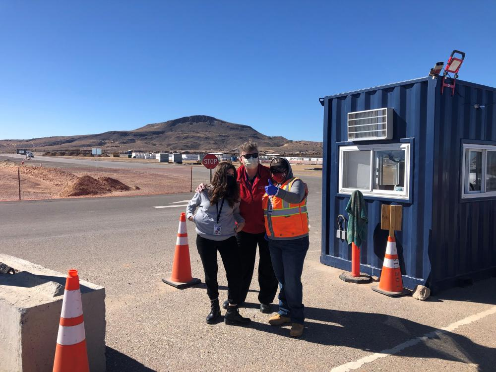 Pictured: Priscilla H., Rose Marie M., and Evelina B. onsite in Los Lunas, NM.