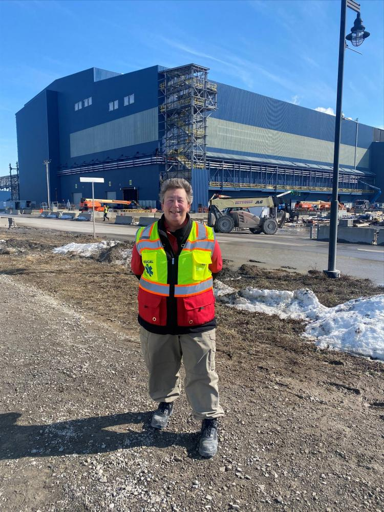 Pictured: Deb G. onsite in Delta, OH