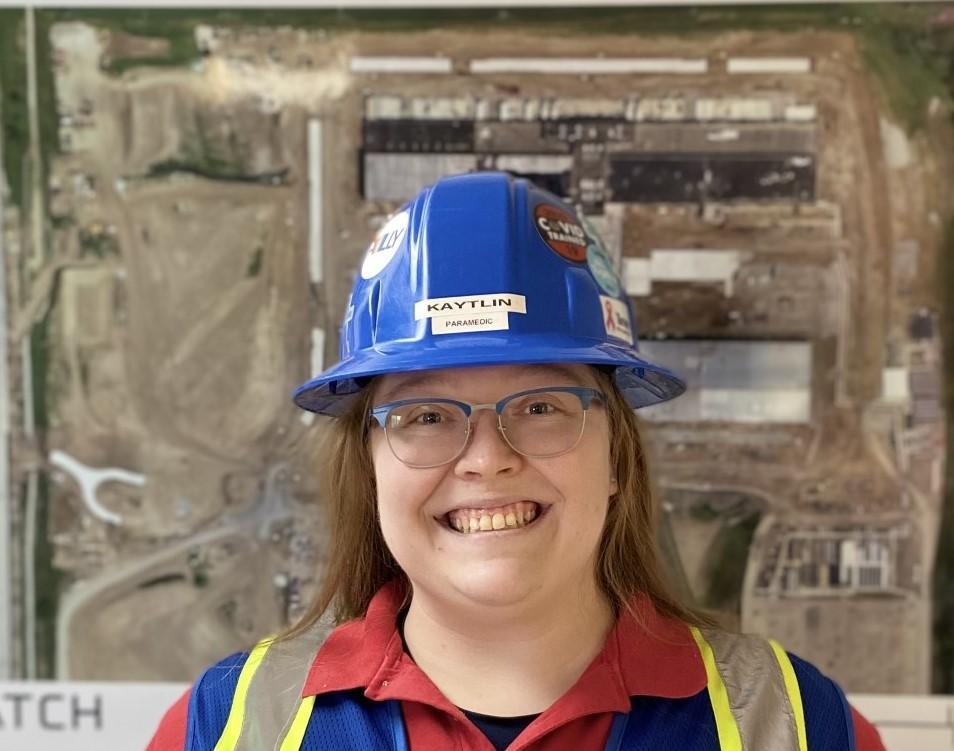 Pictured: Kaytlin M. onsite in Nebraska