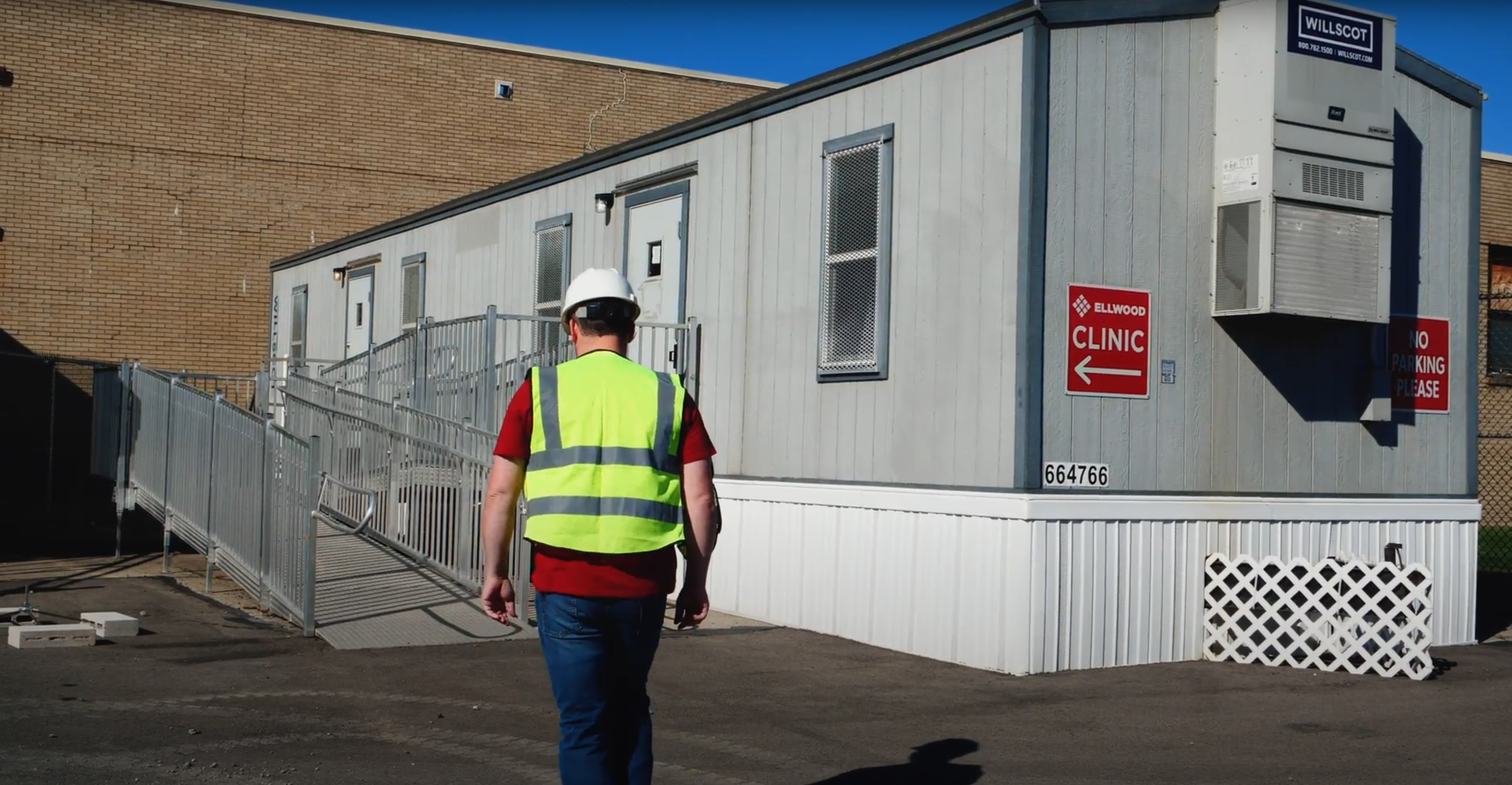 construction site first aid trailer